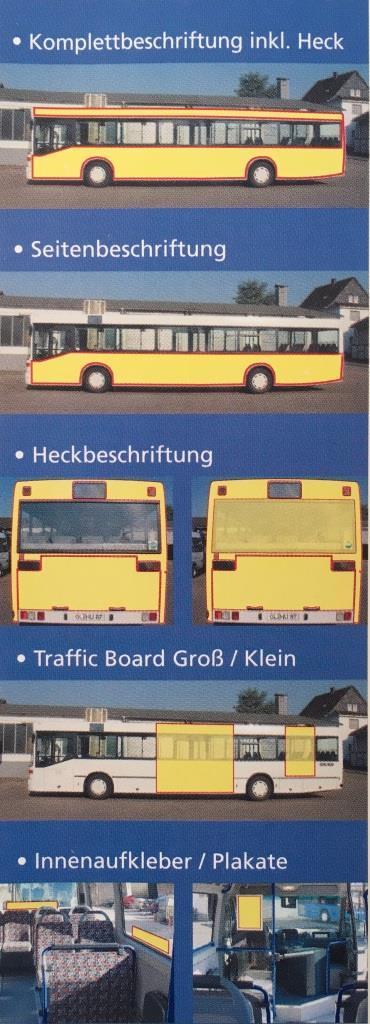 Buswerbungsvarianten